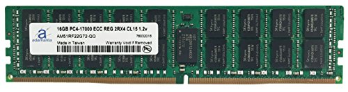 Adamanta 16GB (1x16GB) Server Memory Upgrade Compatible for Dell Poweredge, Dell Precision & HP Proliant Servers Processor DDR4 2133MHz PC4-17000 ECC Registered Chip 2Rx4 CL15 1.2v DRAM RAM