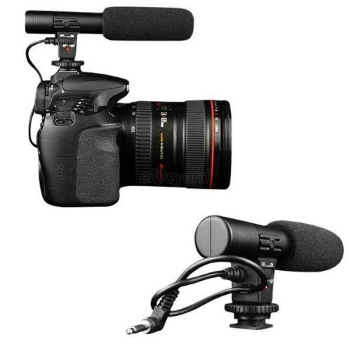 Professional Studio Digital Video Stereo Recording 3.5mm Microphones For Camera ()