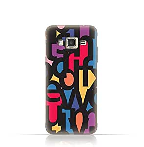 Samsung J2 Pro TPU Silicone Case With Abstract Font Seamless Pattern
