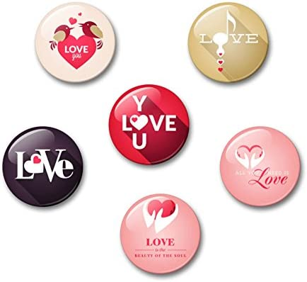 Fondo del amor de las sombras dice Love - 6 imanes para nevera ...