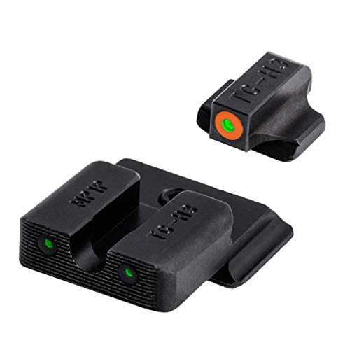 TRUGLO Tritium Pro Glow-in-The-Dark Handgun Night Sights for Smith & Wesson Pistols, S&W M&P, SD9 and SD40, Orange Rear
