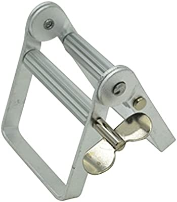 ROSENICE Exprimidor de tubo Exprimidor de pasta de dientes Herramienta dispensadora de pasta de dientes de aluminio (plata)