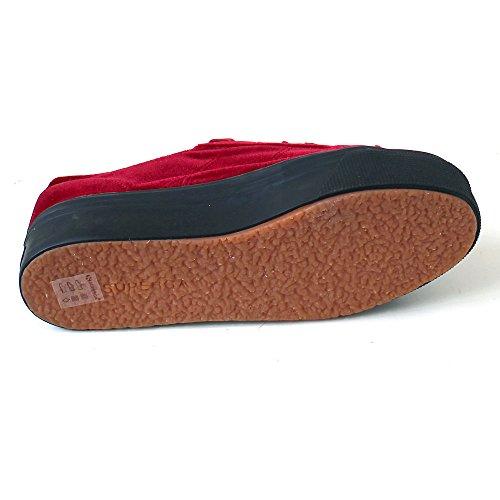 Collo Donna Basso Rosso Sneaker 2790 Velvetw Superga a UxwqIvYP