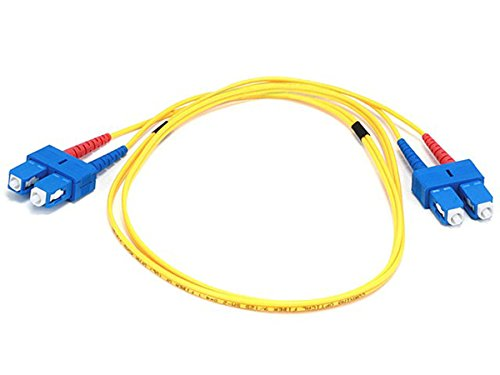 Monoprice Fiber Optic Cable, SC/SC, Single Mode, Duplex - 1 meter (9/125 Type) - - Sc Type Fiber