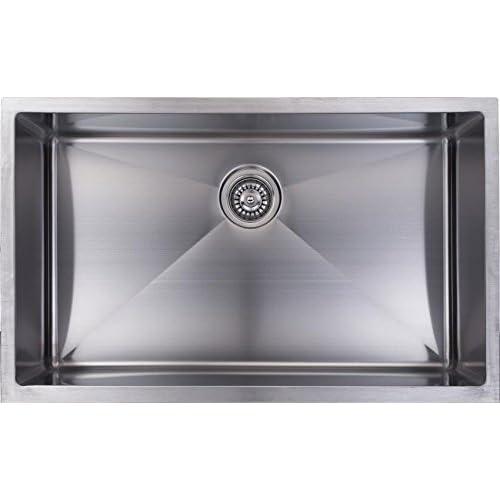 60%OFF Luxart, 16 Gauge Near Zero Radius Single Bowl Kitchen Sink