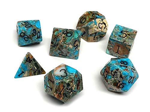 - Wizard Stone Dice Set - Earth Elemental Collection - Includes a Free Dice Display and Storage Case - Hand Checked Quality