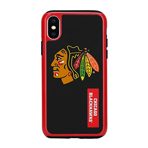 Forever Collectibles iPhone X Dual Hybrid Impact Licensed Case - NHL Chicago Blackhawks