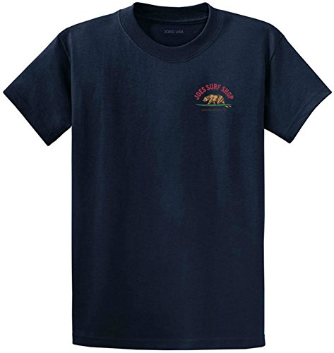 Joe's Surf Surfng Bear Logo Heavyweight Cotton T-Shirt-Navy/c-L (Cotton Cl)