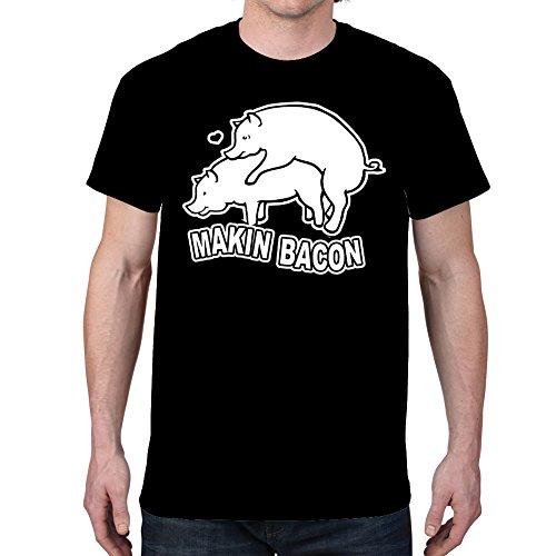 Men's Makin Bacon Black T-Shirt