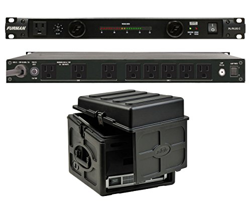 Furman PL-Plus C 15 Amp Power Conditioner + SKB 1SKB-R106 10U x 6U Slant Combo by Furman