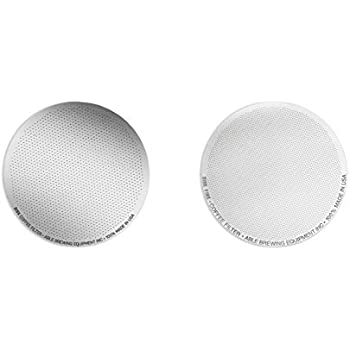 Able Brewing DISK Coffee Filter Set for AeroPress Coffee & Espresso Maker -Stainless Steel Reusable