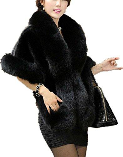 Zofirao Women's Fashion Luxury Soft Long Faux Fox Fur Shawl ()