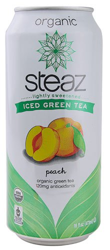 Steaz Green Tea Soda Organic Iced Green Tea Peach -- 16 fl oz