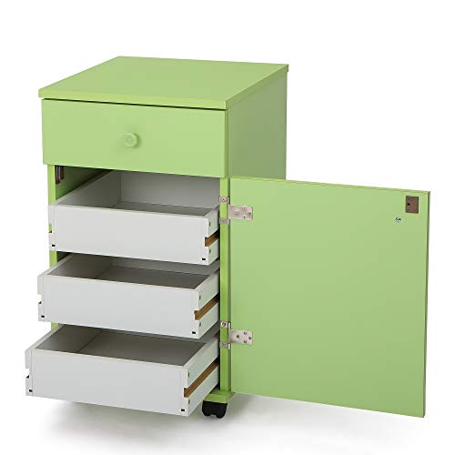 Arrow 804 Suzi Sidekick Portable Sewing, Crafting, and Quilting Storage and Organziation Cabinet, Pistachio Green Finish
