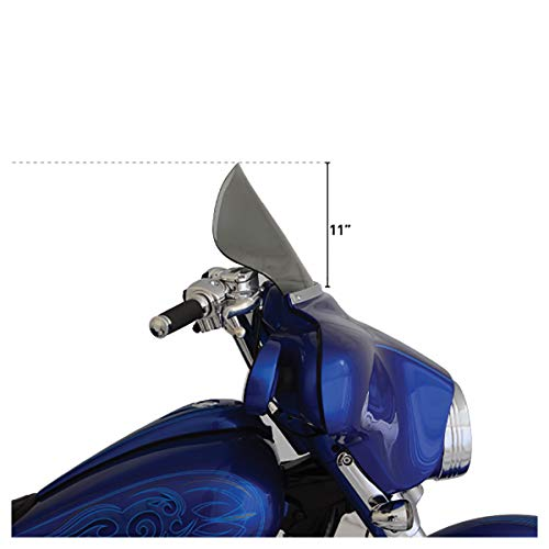 Klock Werks Flare Windshield 11.5 Inch Tint FLH 96-11 (Windshield Flare Klock Werks)