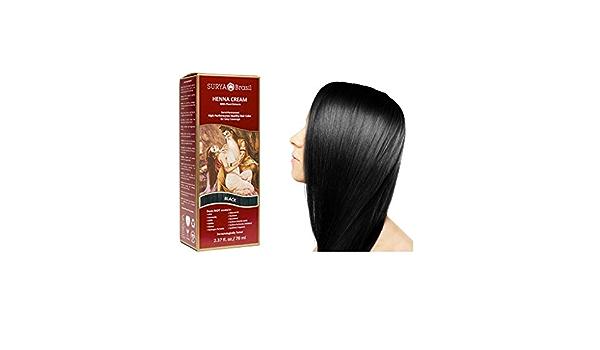 Surya Henna pelo Crema, 70 ml (2,37 fl. oz.) (negro): Amazon ...