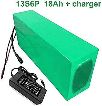 Seilylanka con Cargador 48V 18Ah 13S6P Batería de Iones de Litio E ...