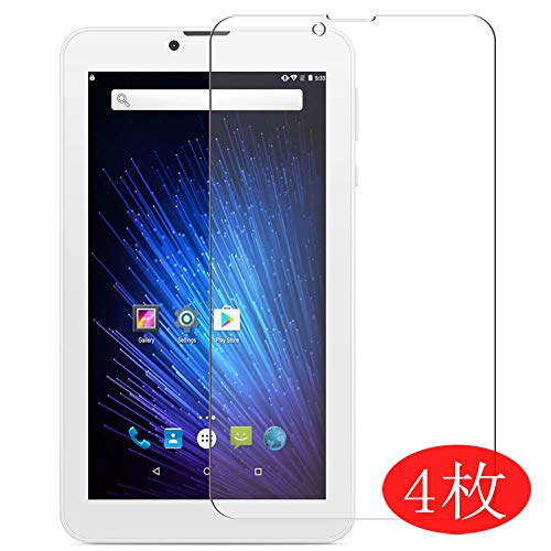"【4 Pack】 Synvy Screen Protector for YUNTAB 7"" E706 Tablet Etablet-WF 0.14mm TPU Flexible HD Clear Case-Friendly Film Protective Protectors [Not Tempered Glass] New Version"