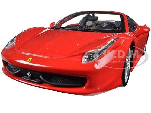 Bburago 26017R Ferrari 458 Spider Red 1/24 Diecast Model Car