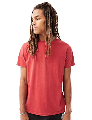Rebel Canyon Young Men's Short Sleeve Crewneck Enzyme Washed Cotton, T-Shirt Medium Red