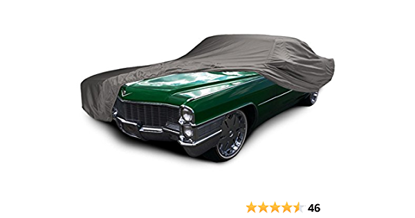FSB50F3 Fleeced Satin Covercraft Custom Fit Car Cover for Select Cadillac Fleetwood//Sedan de Ville Models Red