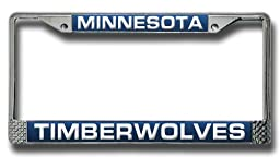 NBA Minnesota Timberwolves Laser-Cut Chrome Auto License Plate Frame