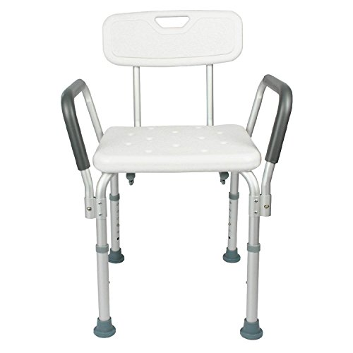 Shower Chair With Back Bathtub W Arms For Handicap Disabled Seniors El