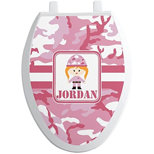 30%OFF Pink Camo Toilet Seat Decal - Round (Personalized)