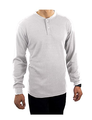 oscar-thermals-henley-solid-all-colors-sizes-long-sleeve-heavyweight-quality-m-white