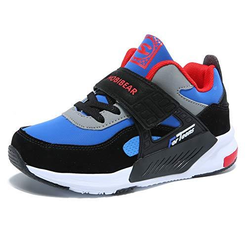 GUBARUN Running Shoes for Kids Outdoor Hiking Athletic Boys Sneakers-Blue/Black by GUBARUN (Image #8)