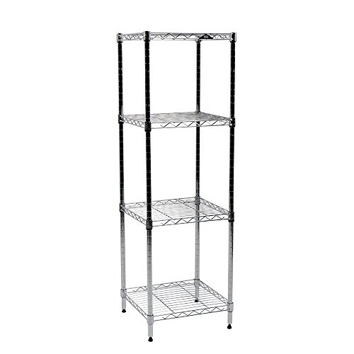 Apollo Hardware Chrome 4-Shelf Wire Shelving 14