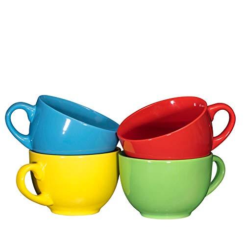 Soup mug sets with handles