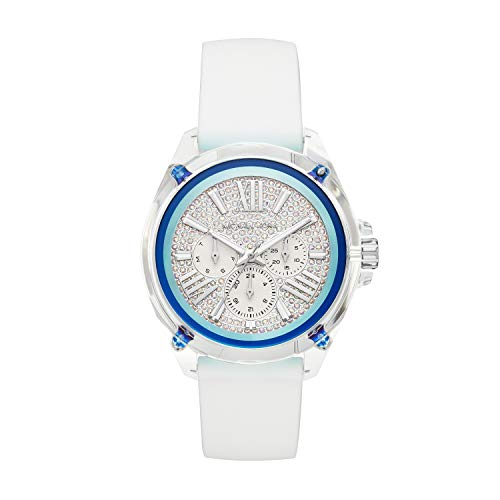 - Michael Kors Women's Wren Stainless Steel Quartz Watch with Silicone Strap, White, 20 (Model: MK6679)