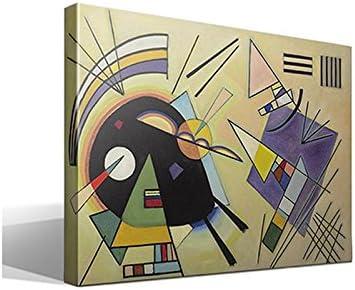 Cuadro Canvas Negro y Violeta de Vasili Kandinski - 70cm x 95cm