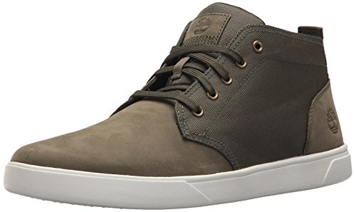 Timberland Men's Groveton LTT Chukka L/F Sneaker, Dark Green, 15 Medium US