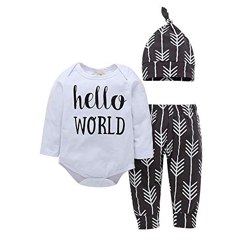 Shop The Look (TM) New Fall/Winter Hello World Unisex Baby Layette Gift Set Clothes Set 0-24 mos (White, 6-12 m) (Best Shops For Baby Clothes)