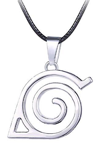 GK-O Anime Naruto Symbol Mark Metal Choker Pendant Necklace Cosplay Costume (Konoha)