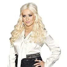 Hair Extensions Clip In Set Extra Long 26 Ins Platinum Blonde Wavy 200 Grms