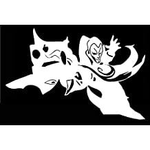 Jhin League of Legends Inspired Decal Vinyl Sticker|Cars Trucks Walls Laptop|WHITE|6.6 X 4.3 In|URI394