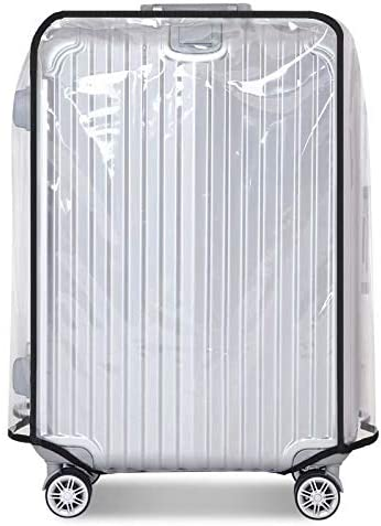 防水防塵スクラッチプルーフトロリーケースカバー 出張旅行学校にぴったり毎日使用(透明) スーツケースカバープロテクター 透明PVCラゲッジプロテクター Transparent 22 Inch