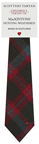 Boys Clan Tie All Wool Woven in Scotland MacKintosh Hunting Weathered - Tie Mackintosh
