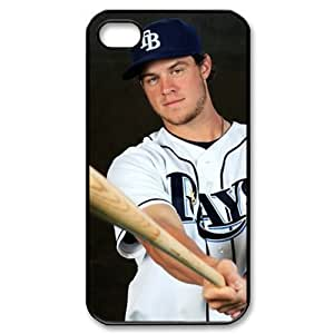 MLB iPhone 4,4S White Tampa Bay Devil Rays cell phone cases&Gift Holiday&Christmas Gifts NADL7B8824262