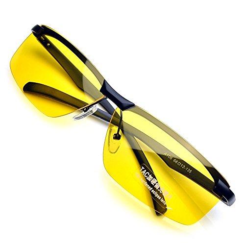PenSee Day Night Vision Glasses Anti Glare Driving Eyewear P