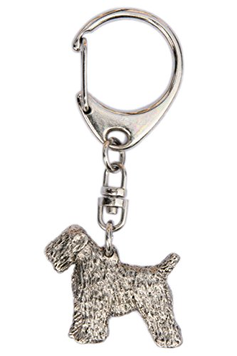 Soft Coated Wheaten Terrier Made in U.K Artistic Style Dog Key Ring - Wheaten Jewelry Coated Soft