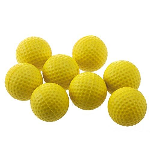WINOMO 18PCS Practice Golf Balls Soft Dimpled Elastic Indoor Outdoor Training Soft Foam Golf Balls ()