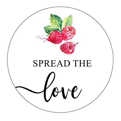 Raspberry Spread the Love Stickers, Raspberry Jam Favor, Raspberry Preserves Favor, Favor Labels, Favor Stickers, Spread the Love Labels, Jam Wedding Favor, Jam Shower Favor, Stickers ()