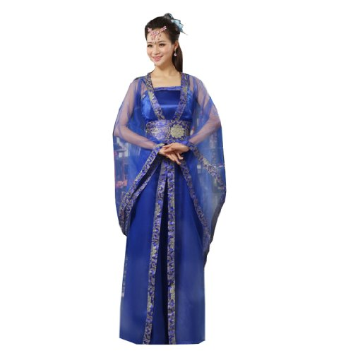 Bysun Women ancient Royal dress performance cosplay SkyblueFS