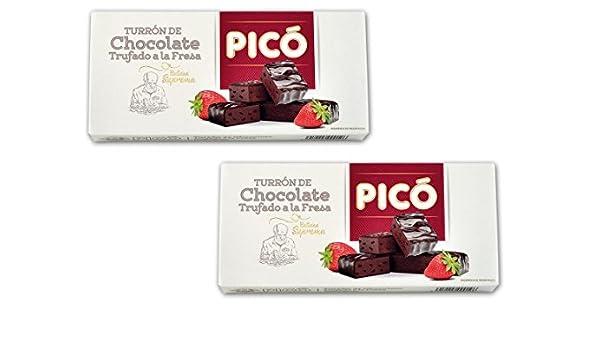 Picó - Pack incluye 2 Turrón de Chocolate trufado a la fresa -Calidad suprema 200gr: Amazon.es: Alimentación y bebidas