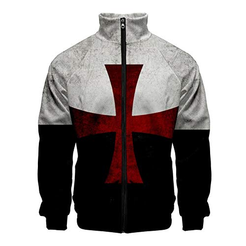 Men's Knights Templar Armor Hoodies Jacket Shirts Crusader Cross Medieval Sweathsirt Costume (X-Large, Black 2)]()