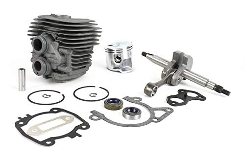 (Everest Parts Supplies Complete Engine Rebuild Kit for Stihl Models TS410 TS420 Includes Crankshaft and Rod Cylinder and Piston with Gasket Set)